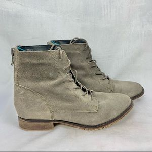 STEVE MADDEN Rawlings Grey Suede Lace Up Boots 8